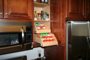 Upper Cabinet Spice Storage