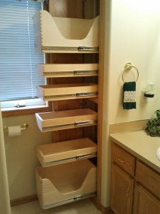 Bathroom Roll Out Shelves