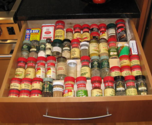 roll out spice storage