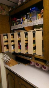 vertical roll out spice rack
