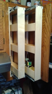 Vertical Pull Out Spice Racks